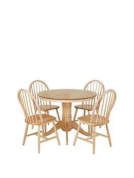 kentucky-100-cm-round-dining-table-4-chairs-natural