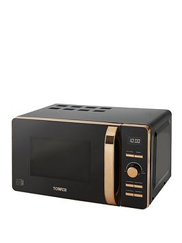 Tower Tower 20-Litre Digital Microwave - Black/Rose Gold Picture