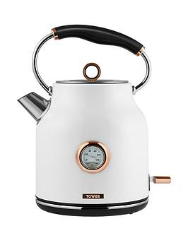 Tower Tower Bottega 1.7-Litre Trad Kettle - White/Rose Gold Picture