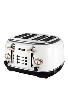 tower-bottega-4-slice-toaster-whiterose-gold