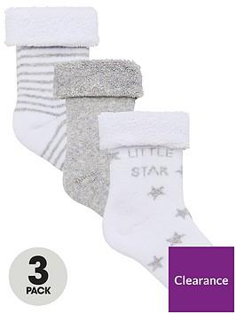 v-by-very-baby-unisex-3pk-little-star-terry-socks