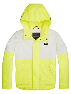 tommy-hilfiger-boys-fluro-lightweight-hooded-jacket-yellow