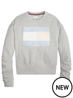 tommy-hilfiger-girls-faux-fur-flag-sweat-top-grey