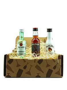 miniture-rum-trio-in-a-gift-box-malibu-bacardi-superior-and-captain-morgan