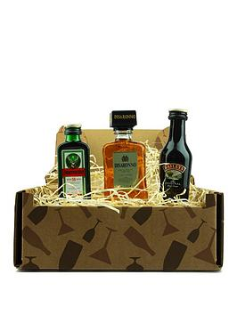 miniature-spirits-trio-in-a-gift-box-baileys-original-jagermeister-and-disaronno-amaretto