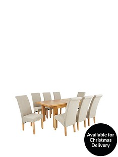oakland-140-180-cm-solid-wood-extending-dining-table-8-chatham-chairs