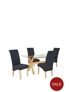 venla-150-cm-solid-wood-and-glass-dining-table-4-chathamnbspfabric-chairs