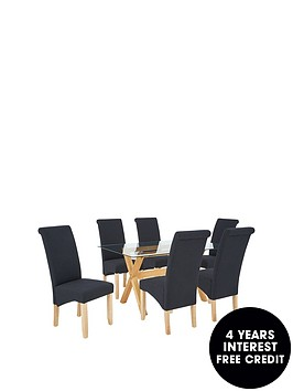 venla-150-cm-solid-wood-and-glass-dining-table-6-chathamnbspfabric-chairs