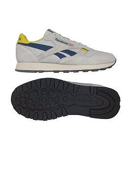 32300fba750 Reebok Classic Leather MU - Grey Navy Yellow