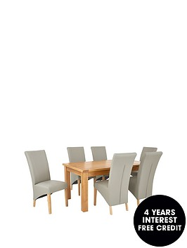 oakland-170-cm-solid-wood-dining-table-6-vienna-chairs