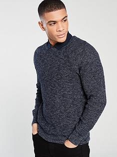 f0762d180 V by Very Textured Knitted Jumper - Navy