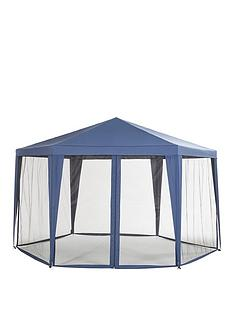 hexagon-showerproof-gazebo-with-mosquito-net
