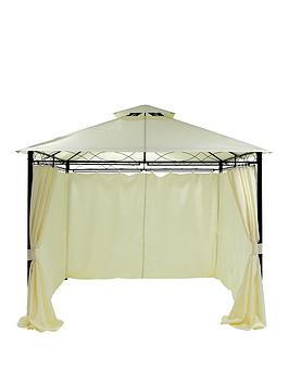 Very Metal Gazebo With 2 Sides 3 X 3M Picture