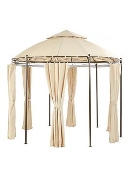 Very  3M Round Steel Showerproof Gazebo With Sides