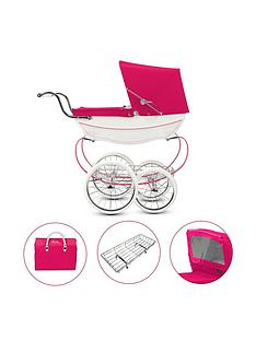 silver-cross-oberons-very-pink-dolls-pram-4-piece-exclusive-bundle-with-optional-personalisation
