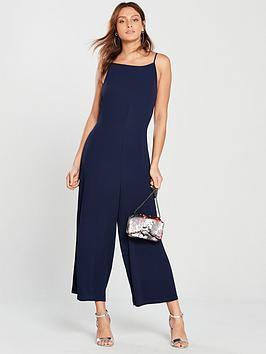 warehouse-culotte-jumpsuit-navy