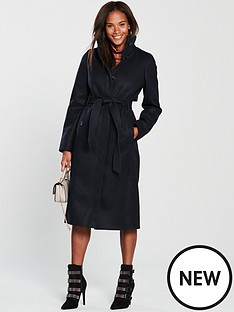 warehouse-long-funnel-coat-navy