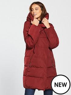 warehouse-asymmetric-longline-padded-coat