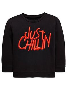 mini-v-by-very-just-chillin-embroidered-sweatshirt