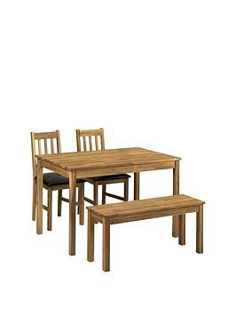 Julian Bowen Julian Bowen Coxmoor 118 Cm Solid Oak Dining Table + 2 Chairs  ... Picture