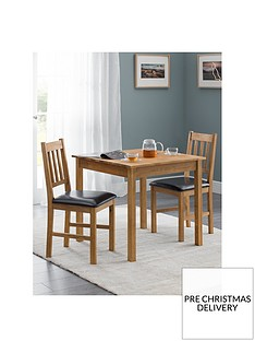 julian-bowen-coxmoor-75-x-75-cmnbspsquare-solid-oak-dining-table-2-chairs