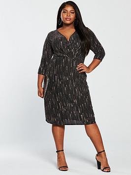 girls-on-film-curve-lurexnbspwith-glitter-pattern-wrap-dress-black