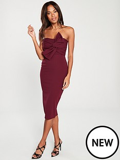 girls-on-film-bow-front-detail-midi-bodycon-dress-burgundynbsp