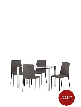 julian-bowen-enzo-120-cm-glass-and-chrome-dining-table-4-linen-chairs-slate