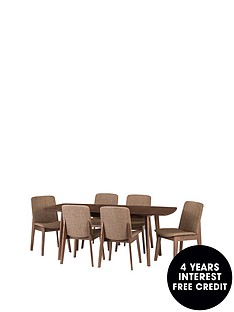 julian-bowen-kensington-150-194-cm-solid-wood-extending-dining-table-6-chairs