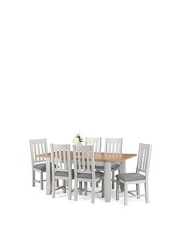 Julian Bowen  Richmond 140 - 180 Cm Extending Solid Wood And Veneer Dining Table + 6 Chairs