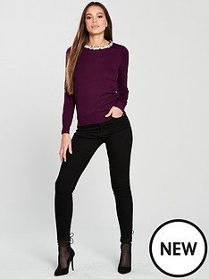 wallis-pearl-necklace-jumper-berry