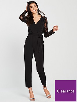 wallis-sequin-lace-jumpsuit-black