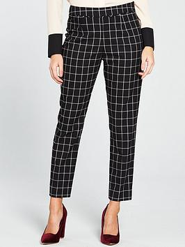 wallis-check-trouser-blacknbsp