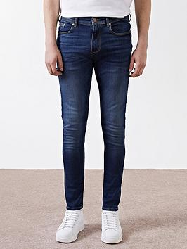 River Island River Island Dark Blue Sid Skinny Jeans Picture