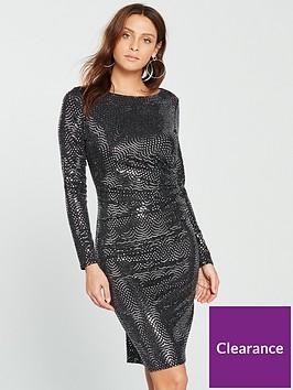 wallis-wave-sparkle-dress-silvernbsp