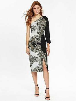 wallis-placed-paisley-one-shoulder-dress