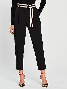 wallis-belted-trouser-blacknbsp