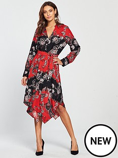 wallis-paisley-shirt-dress-rednbsp