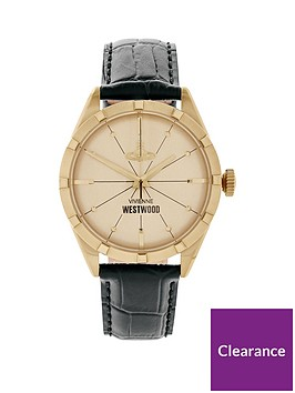 vivienne-westwood-mens-conduit-leather-croc-strap-watchnbsp-nbspgoldblack