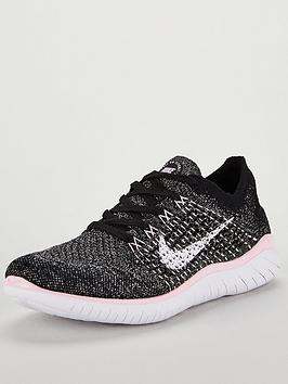 165b75b1975 Nike Free RN Flyknit 2018 - Black White Pink