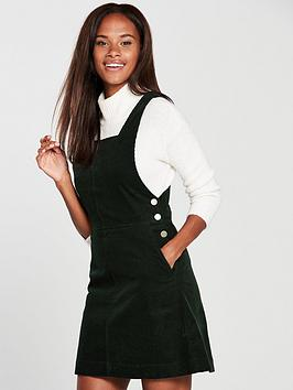 oasis-cord-pinafore-dress