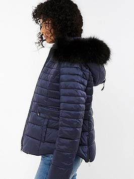 monsoon-monica-quilted-faux-fur-collar-coat-navy