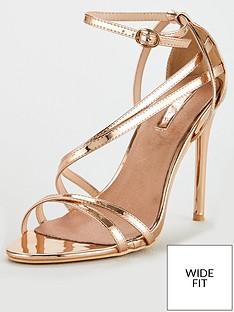 lost-ink-wide-fit-flo-strappy-sandal-rose-gold