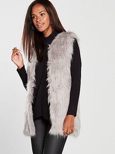 river-island-river-island-loose-weave-faux-fur-jacket-grey