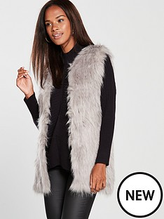 river-island-river-island-loose-weave-faux-fur-jacket-grey