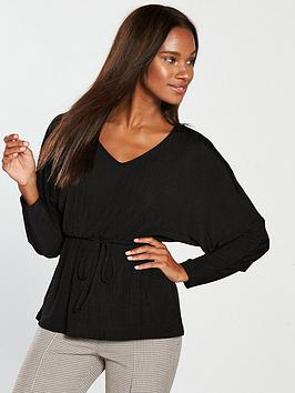 river-island-belted-slouchy-top-black