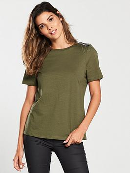 river-island-river-island-shoulder-detail-fitted-t-shirt--nbspkhaki