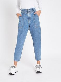 river-island-river-island-belted-waist-jeans-mid-blue