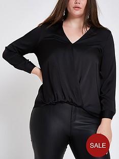 ri-plus-tuck-front-blouse-black
