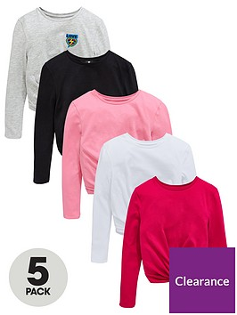 v-by-very-5-pack-twist-front-long-sleeve-t-shirts-multi